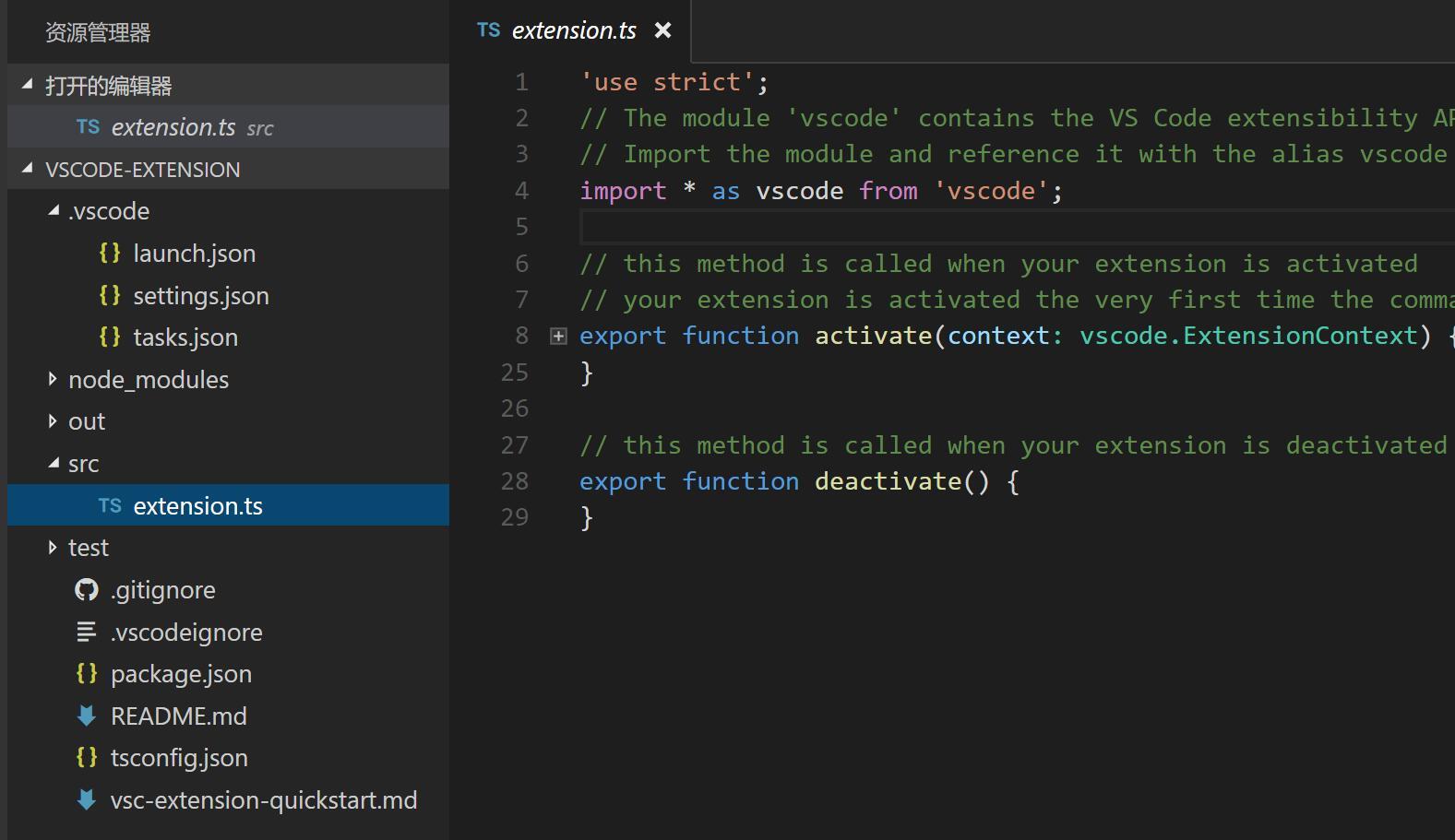 yo code output